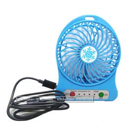 Wholesale 2016 Inch Vanes USB Fan Speeds Portable Mini USB Rechargeable Desktop Fan wih LED Light
