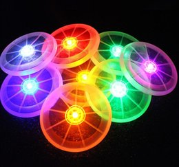 Wholesale New LED Frisbee Flying Discs Dog Training Games Sport Toys Lumious Light Up Outdoor Toy Customized Pet Supplies Mixed Color