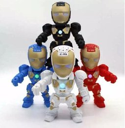 Iron Man Robot C-89 Wireless Bluetooth Speakers LED Mini Portable Subwoofers Handsfree Support TF Card USB FM Radio Loud Speakers