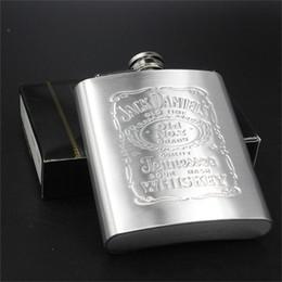 Wholesale 7 OZ Stainless Steel Flask Pocket Hip Flask Jack Daniel s Wine Alcohol Flask Liquor Flask Wedding Gift Laser Welding