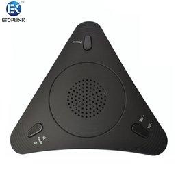 Wholesale ETOPLINK EK M01 VoIP Conference Station PC Voice Microphone Speaker Condenser Sound Desktop Microphone for Computer PC Laptop