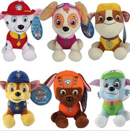 Wholesale 12CM Paw Dog Patrol Plush Dolls Includes Skye Marshall Chase Zuma Rocky Rubble Figure Puppy Stuffed Soft Plush Toys