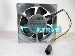 Original Servo D1238B24B7AS-00 DC24V 0.6A 120*120*38MM 12cm 3 wires Inverter cooling fan