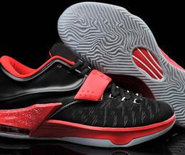 Kd chaussures de vente mens à vendre-KD 7 VII Black Gold Sneakers, KDS 7 VII 2015 Nouvelle arrivée KD7 Mens Basketball Chaussures à vendre