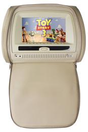 """El jugador del sd para la televisión en Línea-2x 7 """"dvd del coche del apoyo para la cabeza, USB, SD, FM, IR, juego, teledirigido, OSD lang, AV, cremallera, panel digital"""