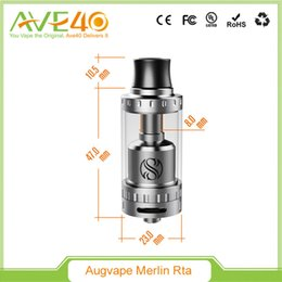 Wholesale Original Augvape Merlin RTA ml Top Filling Tank Stacked Dual Coil Juice Flow Control Dual Airflow Slots