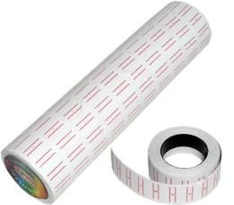 100 Rolls = 10 barrels wholesales White Paper Price Tag Price Lable for MX-5500 Price Gun Labeller