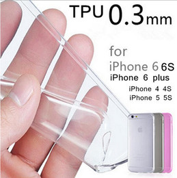 Wholesale 0 mm Crystal Clear Soft Silicone Transparent TPU Case Cover for iPhone Plus S Plus Samsung Galaxy Note S7 EDGE Goophone i7 Plus