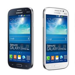 Pouces 1gb en Ligne-Original Samsung GALAXY Grand Neo Plus I9060i 5 pouces Quad Core 1.2Ghz 1Go / 8GB Dual Sim 5MP / 2MP Appareil photo GSM 3G Téléphone remis à neuf