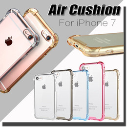 Wholesale Drop Proof Camera Protection Transparent Clear Soft TPU Frame Arcylic Back Hard Case For iPhone S Plus Samsung Galaxy S7 Edge MOQ