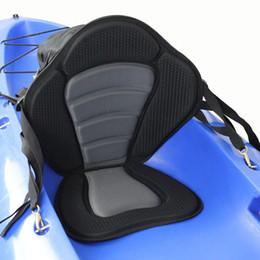 Wholesale Deluxe Padded Kayak Boat Seat Soft and Antiskid Padded Base High Backrest Adjustable Kayak Cushion with Backrest