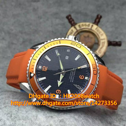 NEW LUXURY SEA PLANET OCEAN CO-AXIAL 232.32.46.21.01.001 ORANGE MENS AUTOMATIC MOVEMENT WATCH ORANGE RUBBER STRAP MEN'S SPORT WRISTWATCHES