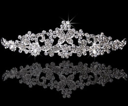Best Selling Bridal Fascinators tiaras With Rhinestone Head Pieces Crystal Bridal Headbands Tiaras Crowns Wedding Hair Accessories HT117