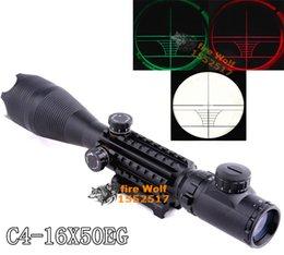 Wholesale 2016 New Night Vision Scopes Air Rifle Gun Riflescope Outdoor Hunting Telescope Sight High Reflex Sight Gunsight C4 X50EG