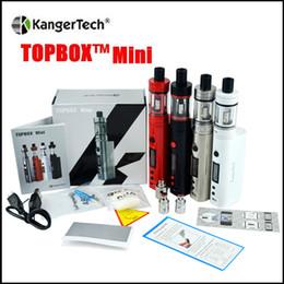 Wholesale Top quality Kangertech topbox mini Starter Kit w Kbox mod ml Top Filling Sub Ohm Tank Temp Control Kit clone KangerTech Beginner Kit