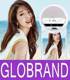 Descuento anillo de luz led de la cámara NUEVO 36 LEDs Selfie Ring Flash Phone cámara de relleno de luz para Iphone Samsung teléfono móvil con brillo ajustable 3 GLO613