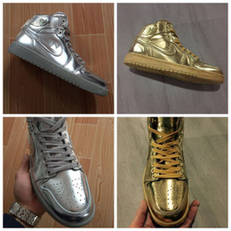 Wholesale 2016 New JI1 Men Designer Shoes Golden Silvery Fashion Brand Cheap Authentic Casual Shoes for Men Size Eur