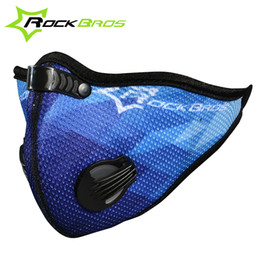 Wholesale icycle price Rockbros Bicycle Cycling Outdoor Sports Masks Activated Carbon Air Filter Mask Anti Pollution Mouth Muffle Dust Half Face Co