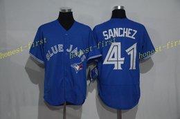 Wholesale toronto blue jays aaron sanchez MLB Baseball Jerseys Elite Cool base Jersey Authentic Stitched