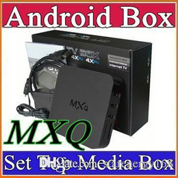 Wholesale 16X MXQ android TV BOX Amlogic S805 Quad Core Android mxq tv box sex xxl android live tv box amlogic s805 quad core mxq ott tv box A TH