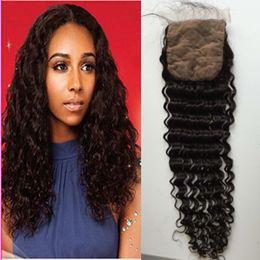 Wholesale Better quality hot Sale silk base closure Deep Wave Hair Hair Extension Peruvian Hair Cheap Peruvian Hair Bundles Online