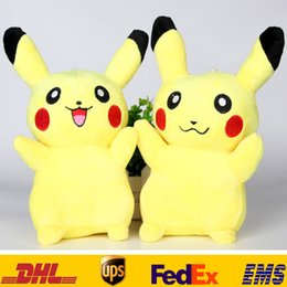 New 20cm(8inch) Poke Pikachu Plush Dolls Children Kids Cartoon Movies Game Costume Cosplay Stuffed Animal Toys XMAS Gifts HH-T07