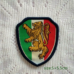 Italy Italian Lion motif Sew On Patch Shirt Trousers Vest Coat Skirt Bag Kids Gift Baby Decoration