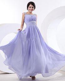 Cheap High Quality Chiffon Custom Design New Style A-line Lilac Bridesmaid Dresses Chiffon Prom Evening Dress Gowns