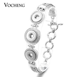 Vocheng NOOSA Petite 12mm Ginger Snap Multi Chain Toggle-clasp Bracelet NN-456