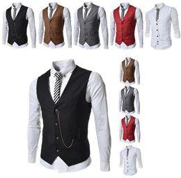 DHL Free 2016 Stylish Wedding Groom Waistcoat V-neck Best Man Groomsmen Vest Slim Businessman Vests Business Man waistcoats Outerwear Coats