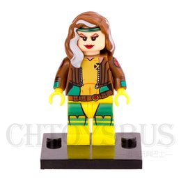 Wholesale X MEN Apocalypse Rogue Anna Marie Magneto SUPER HEROES Minifigures Assemble Model DIY D Building Blocks Kids Gifts Toys