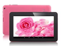 Wholesale 9 inch Allwinner A33 Quad Core Dual Camera Tablet PC Android point capacitive Screen G M GB Free DHL