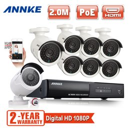 Wholesale ANNKE P CH HDMI NVR PoE Kit IP Network Outdoor CCTV Security Camera System