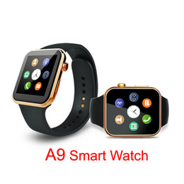 apple iphone smart watches Promotion 2016 puce nouvelle montre Smartwatch A9 Bluetooth pour Apple iPhone IOS Samsung Android relogio Phone inteligente reloj montre intelligente DHL OTH232