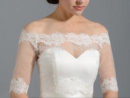 Bolero Lace Wedding Half Sleeves Wedding Jackets Bride Boleros Bridal Shrug Party Cape Off the Shoulder Wedding Jackets Custom Made
