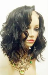 18 black hair en Ligne-Perruques court bob pour les femmes noires brésilienne Full Lace perruques de cheveux humains Body Wave cheveux Glueless pleine perruque avant de dentelle cheveux bébé