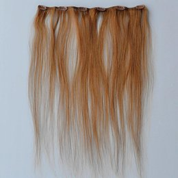 Brown Color One Piece Clip in Extensions 100% Real Hair Weaving 20g 6clips