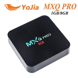 Amlogic android à vendre-MXQ Pro Amlogic S905X S905 RK3229 Quad Core Android TV BOX 1 Go 8 Go 2.4 GHz WiFi H.265 Full HD