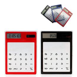Ultra mince carte Mini cadeau calculatrice transparent fournitures de bureau LOGO personnalisé publicité cadeau calculatrice calculator office for sale à partir de bureau de la calculatrice fournisseurs