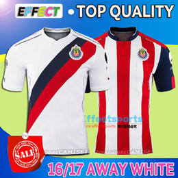 Wholesale 2016 Mexico s Club Soccer Jersey Chivas Guadalajara camisetas de futbol New Red white O BRAVO REYNA DE NIGRIS ARCE football Shirts