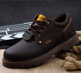 Wholesale Kicks Store Outdoor Shoes Leather Casual Shoes Men Shoes Wear Fashion Shoes Martin All match Work Shoes