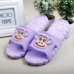 Wholesale monkey kids shoes children sandals cute animal picture boys and girls bathroom slippers sandals manufacturers selling children sandal