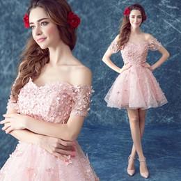 Wholesale 2016 Vestidos de encaje de las niñas de flores para las bodas Vestidos de princesa corto de la bola Vestidos de desfiles de las niñas con los vestidos de color rosa púrpura Quinceanera