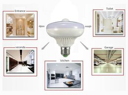 Wholesale E27 base W AC PIR Infrared Motion Detection Sensor Light Sensor LED Bulb Auto Switch Energy Saving Night Lamp Indoor Lighting