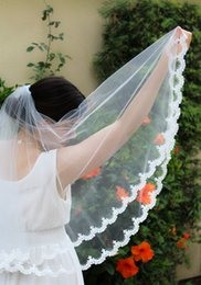 Luxury New Top Quality Best Sale Romantic Elbow White Ivory Lace Applique veil Bridal Head Pieces For Wedding Dresses
