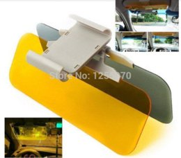 Wholesale TV Recommended Day Night Car Clear Vision Visor Dazzling View Day and Night Anti vertigo Mirror Solar Panels Dazzling