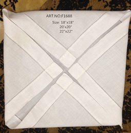 Wholesale Home Textile New White Linen Hemstitch border edges Table Napkin quot x20 quot Perfect Wedding decoration make any guest feel welcome