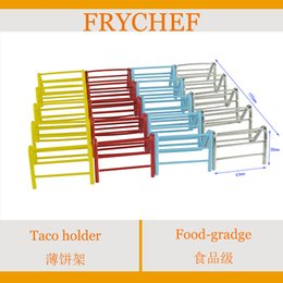 Wholesale Breakfast taco holder for pieces chicken roll rack Cooking Tools Taco Holders chicken roll holder