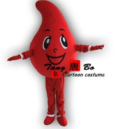 Wholesale Red blood performance clothing opening ceremony blood drops mascot garment delivery free of charge