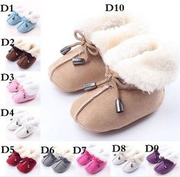 Wholesale HOT Plush lapel newborn cotton toddler soft bottom thick warm boots Winter adhesive tape baby leisure sports infant boots CL